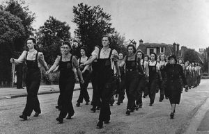 AFS women training, Highgate, London, WW2