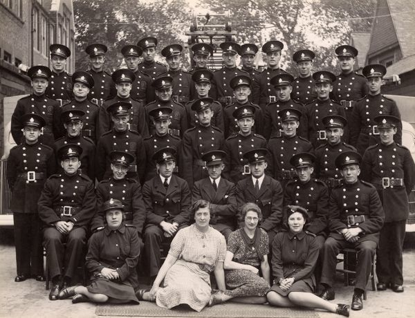Group Photograph - Auxiliary Fire Service Men and Women