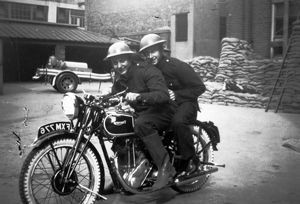 AFS despatch rider and messenger, WW2
