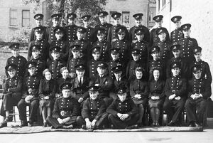 Auxiliary firefighters group photograph, WW2
