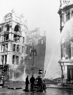 Blitz in London -- Oxford Street after an air raid, WW2