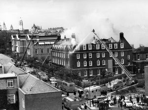 GLC-LFB Major fire, Chelsea Hospital, Pimlico