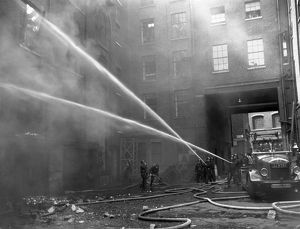 LCC-LFB fatal warehouse fire, Langley Street WC2