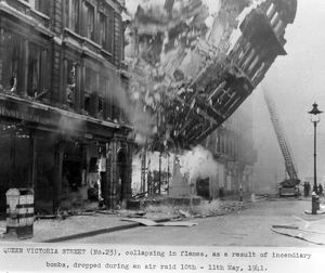 LFB and the Blitz - Queen Victoria Street