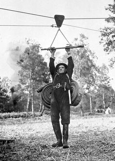 NFS firefighter at a training camp, WW2