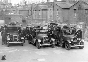 Sub-station with taxis and crews, WW2