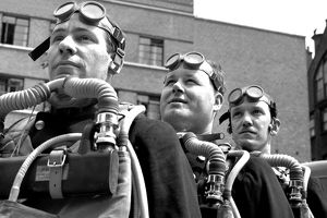 LFB Firefighters wearing breathing apparatus LFB150