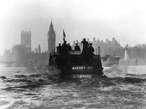 Massey Shaw fireboat on the River Thames