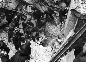 Rescue following bombing, WW2