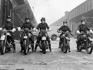 Women dispatch riders in training, WW2